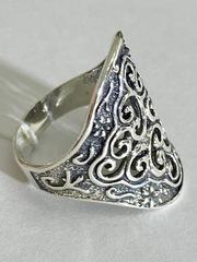 Кружево (кольцо из серебра)
