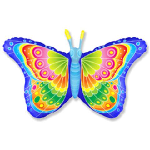 F Бабочка кокетка, Синий, 32