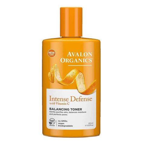 Avalon Organics Vitamin C: Балансирующий тоник для лица с витамином С (Intense Defense With Vitamin C Balancing Toner), 251мл
