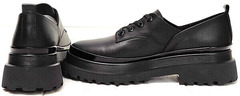 Модные осенние туфли женские на низком ходу Marani magli M-237-06-18 Black.