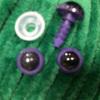 Глаз винтовой для игрушки 10 мм, (фиолетово-черный) пластиковый с заглушкой (2 шт)