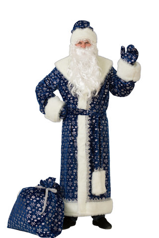 Дед Мороз синий (плюш)