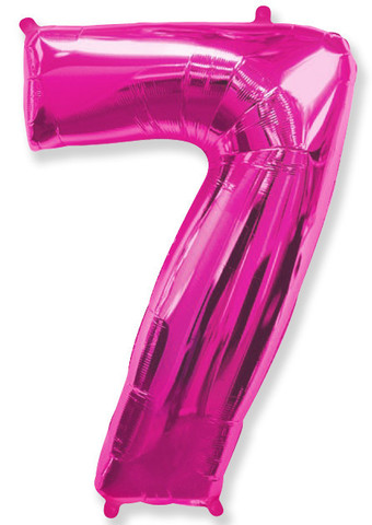 Воздушный шар (40''/102 см) Цифра, 7, Фуше, 1 шт.