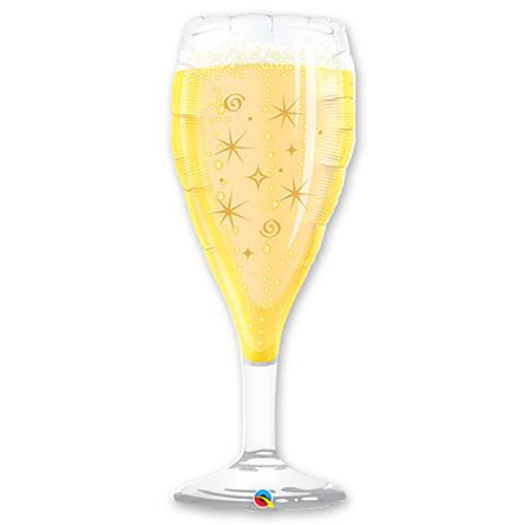 Фигура фольга Бокал с шампанским