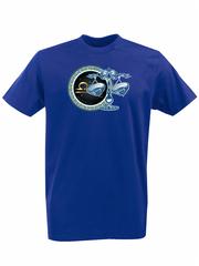 Футболка с принтом Знаки Зодиака, Весы (Гороскоп, horoscope) синяя 006