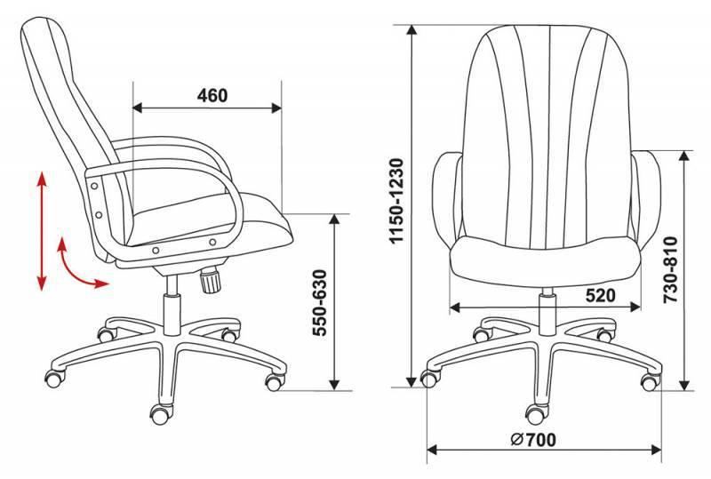 Кресло для руководителя T-898AXSN