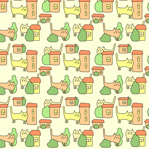 Котики и домики