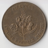 K10550 Канада территория Юкон, Кипрея fireweed efilobe a feuille etroite D32 мм.