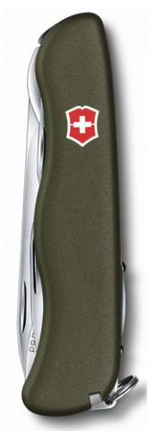 Нож Victorinox Forester, 111 мм, 12 функций, зеленый123