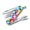 Нож Victorinox Classic, 58 мм, 7 функций, белый/рисунок (подар. упаковка)