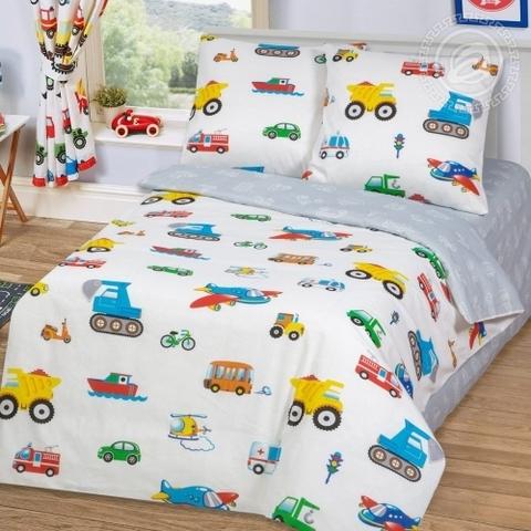 Детское постельное бельё Моторчик БЯЗЬ