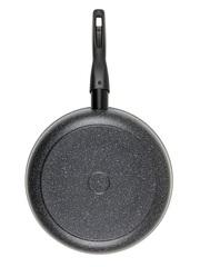Сковорода со съемной ручкой 28 см глубокая с крышкой DARIIS с 3-х слойным антипригарным покрытием БВР-111-НН серия Гранит Мечта