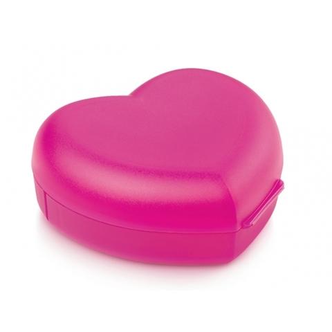 Контейнер сердце в розовом цвете