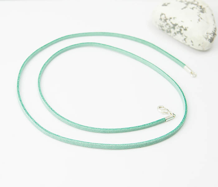 PL284-7 Замшевый шнурок на шею зеленого цвета фото 03