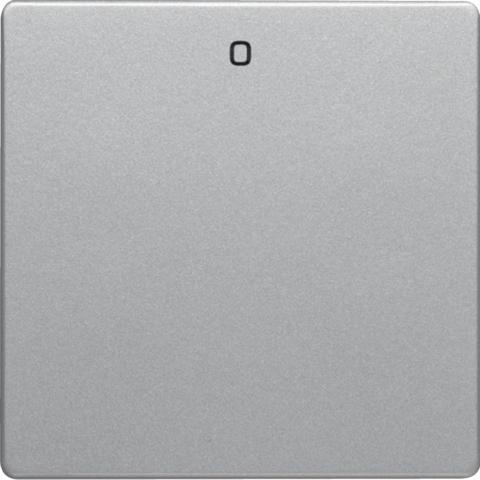 Клавиша с надписью «0». Цвет Алюминий. Berker (Беркер). Q.1 / Q.3 / Q.7. 16226084