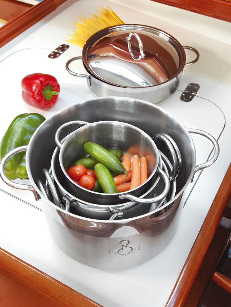KITCHEN PAN SET, SELF-CONTAINING , 11 PIECE