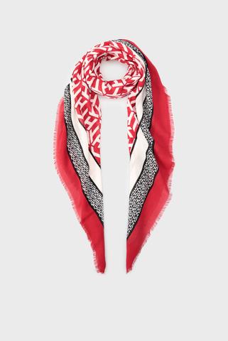 Женский шарф с принтом MONOGRAM FRAME SQUARE Tommy Hilfiger