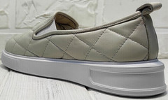 Летние туфли слипоны бежевые женские Alpino 21YA-Y2859 Cream.