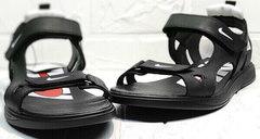 Трекинговые босоножки сандали на липучках мужские Nike 40-3 Leather Black.