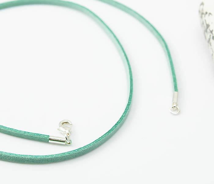 PL284-7 Замшевый шнурок на шею зеленого цвета фото 04