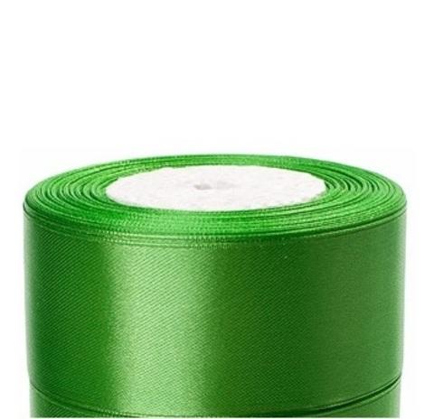 Лента атласная в уп. 4 шт. (размер:40мм х 25 ярдов) Цвет: зеленое яблоко