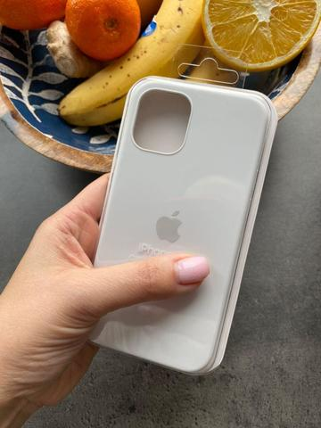 Чехол iPhone 12 (6,7) Silicone Case Full /white/