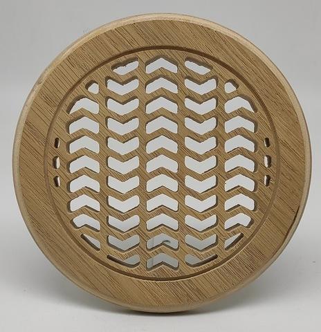Решетка декоративная деревянная круглая на магнитах Пересвет К-34 d100мм