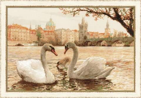 Набор для вышивания крестом «Лебеди. Прага» (1364)