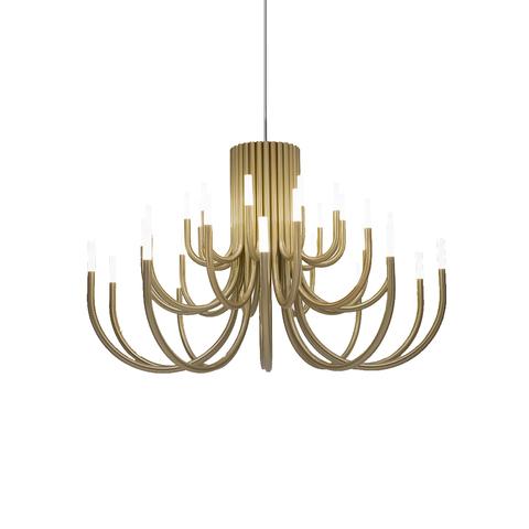 Подвесной светильник копия Palma by Alma 18 плафонов (золотой)