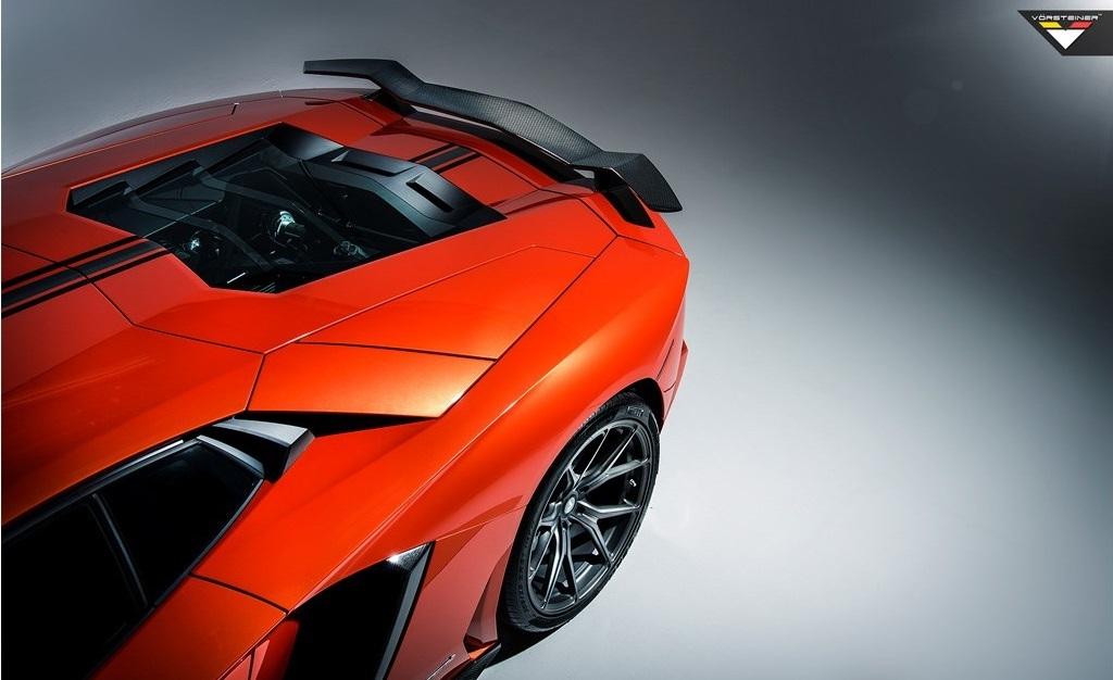 Карбоновое основание крыла Vorsteiner Style для Lamborghini Aventador