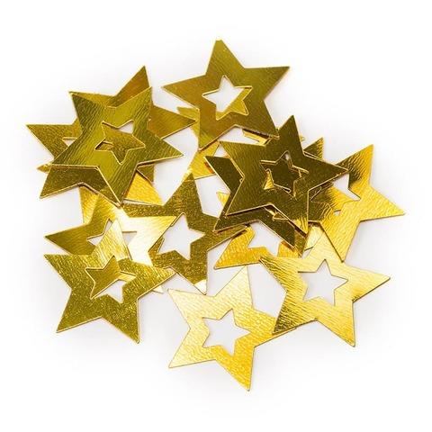 Конфетти Звезда в звезде, Золото, 17 гр