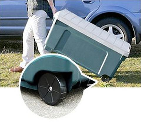 Экспедиционный ящик на колёсах IRIS RV Box 1000, колеса 2.