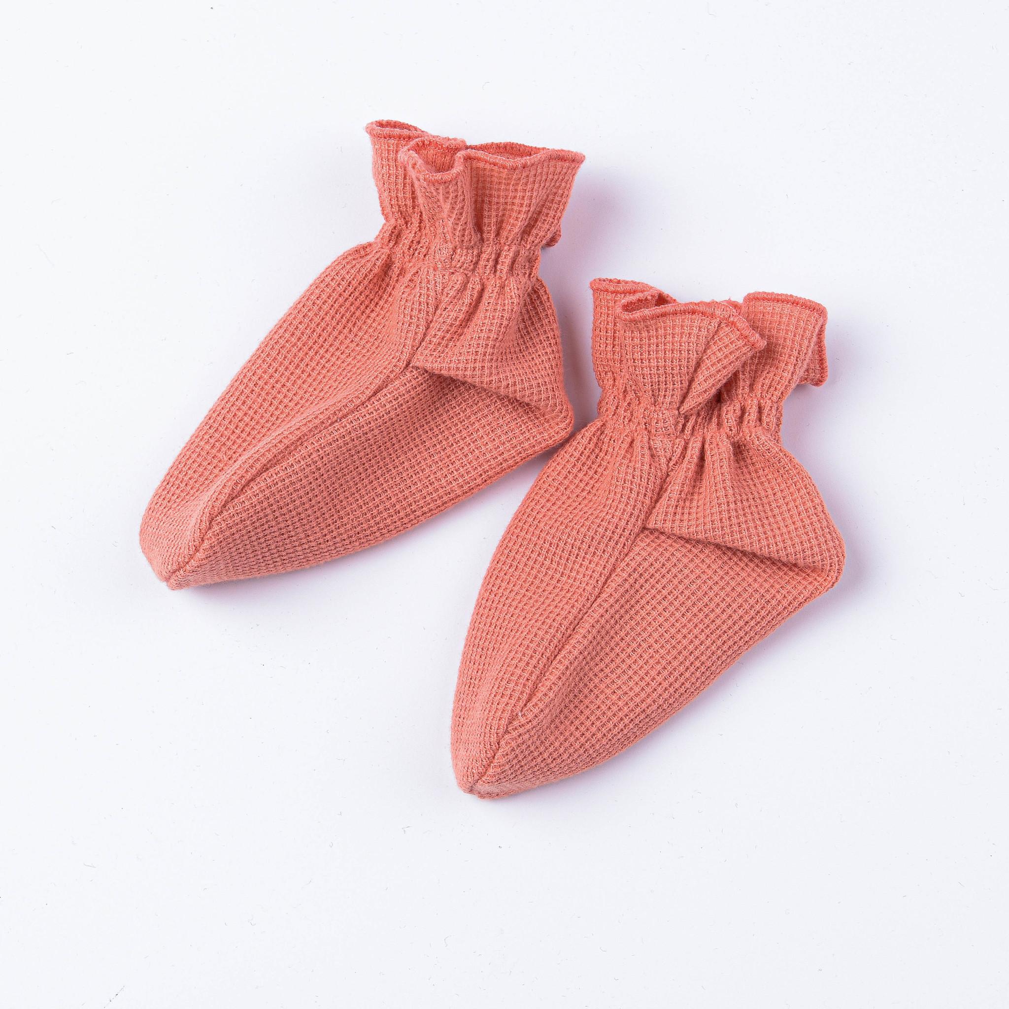 Носочки из рифленой ткани