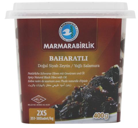 Маслины Baharatli вяленые со специями 2XS, Marmarabirlik, 400 г