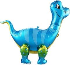 Ходячий шар Динозавр Брахиозавр синий