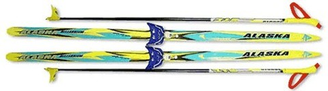 Лыжный комплект STС (лыжи, палки, крепление 75 мм): 195 step