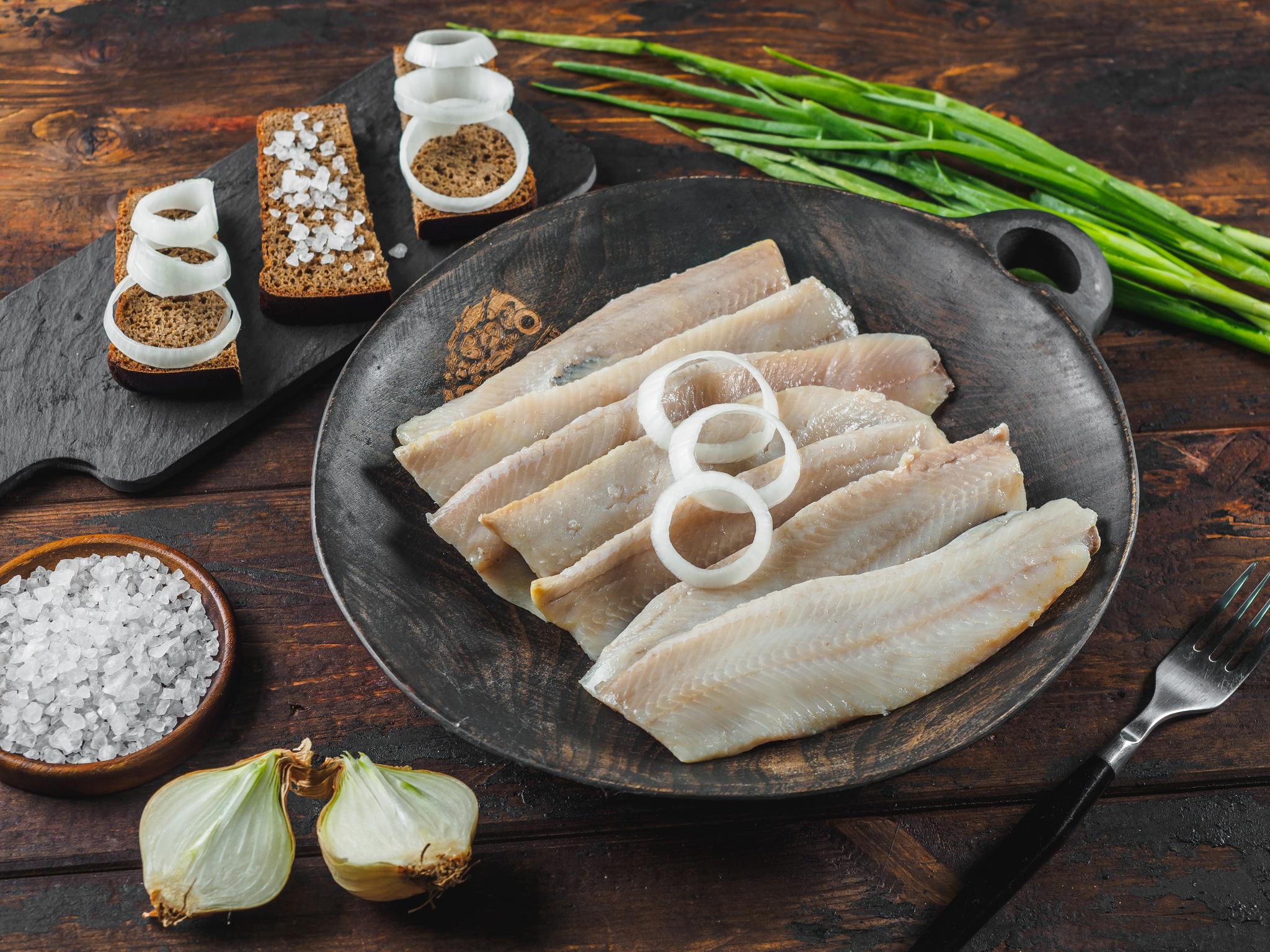 Малосоленое филе сельди без кожи 500 гр
