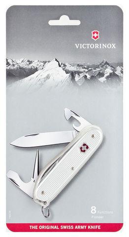 Нож Victorinox Pioneer, 93 мм, 8 функций, серебристый, блистер123