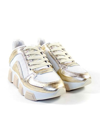 бело-золотые кроссовки Alpino