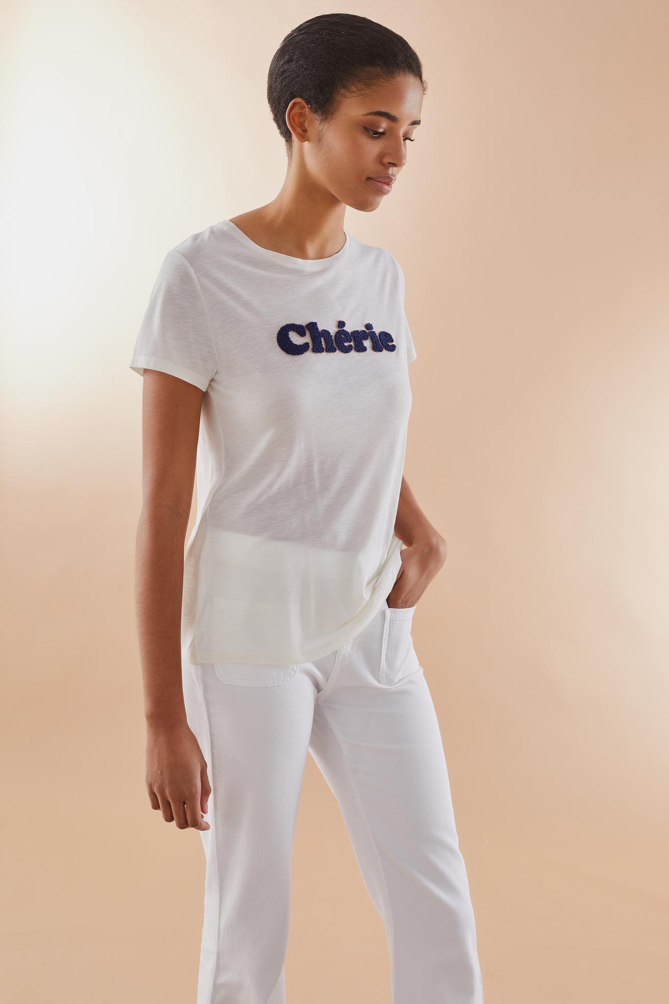TAMARA - футболка из джерси с вышивкой