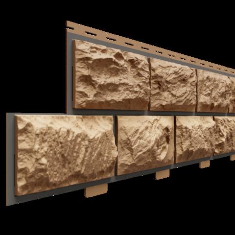 Фасадные панели (Цокольный Сайдинг) Доломит Альпийский Премиум Оникс