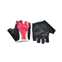 Велоперчатки JAFFSON SCG 47-0004 (чёрный/белый/красный)