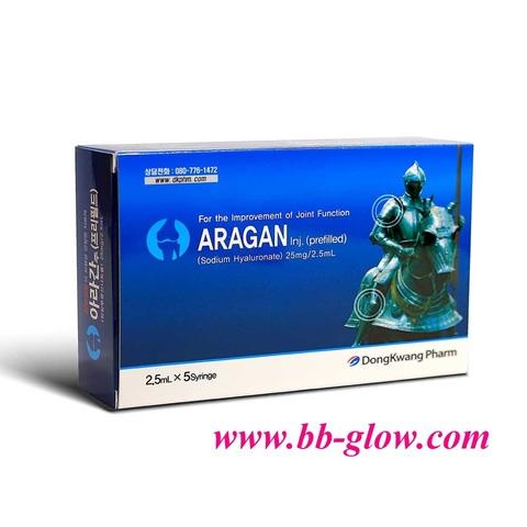 Биоревитализант Aragan 1 упаковка 5 шприцов по 2,5 мл
