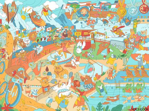 «Спорт: Олимпийские игры», гигантская раскраска 120 см