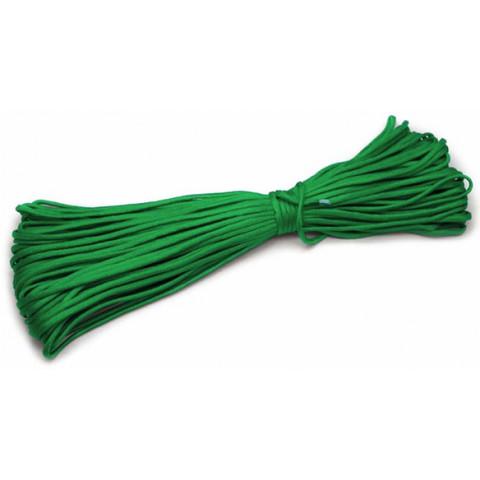 Шнур нейлоновый PC009 длина 30 м, диаметр 4.0 мм (зелёный)