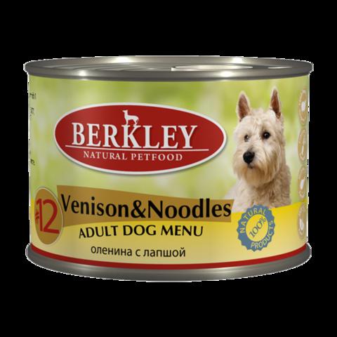 Berkley № 12 Консервы для собак с олениной и лапшой