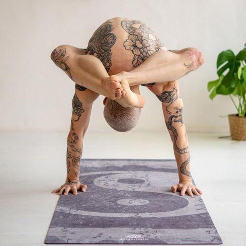 Коврик для йоги Инь Ян PRO из микрофибры и каучука,  200*68*0,3 см