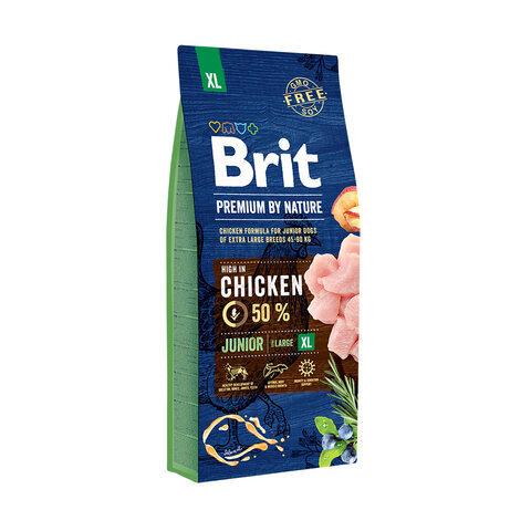 Купить сухой корм Brit Premium by Nature Junior XL для молодых собак (1-3 месяцев) гигантских пород (45–90 кг)