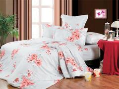 Сатиновое постельное бельё  2 спальное  В-113