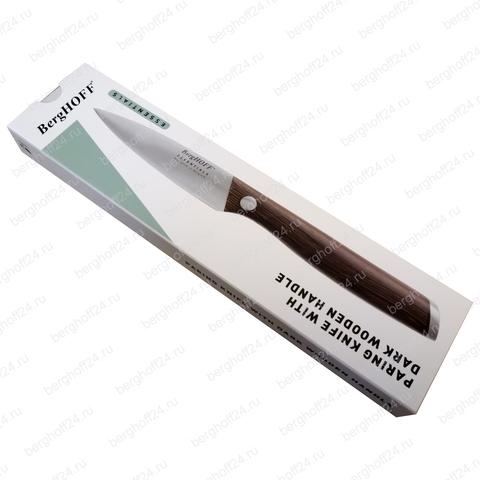 Нож для очистки с рукоятью из темного дерева 8,5см